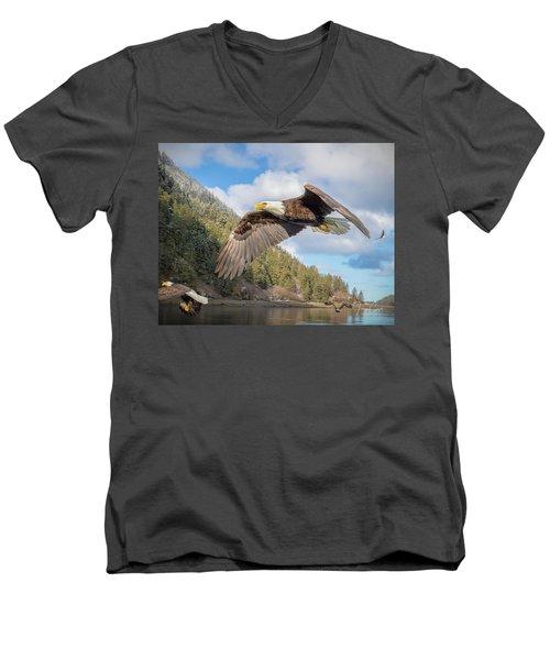 Master Of The Skies Men's V-Neck T-Shirt