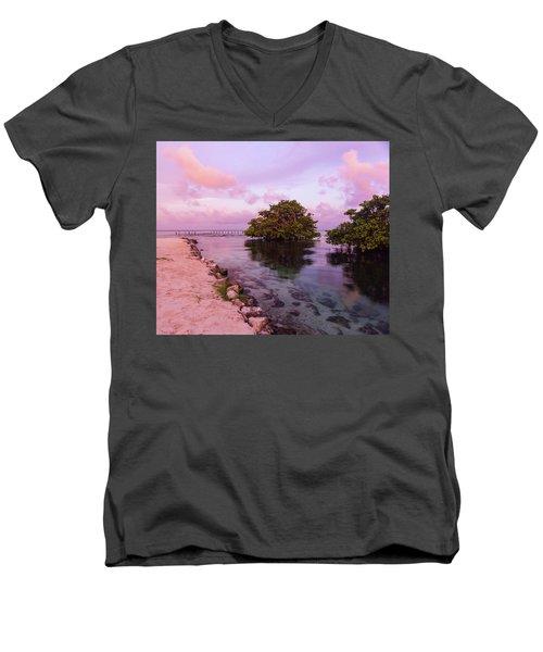 Mayan Sea Reflection Men's V-Neck T-Shirt