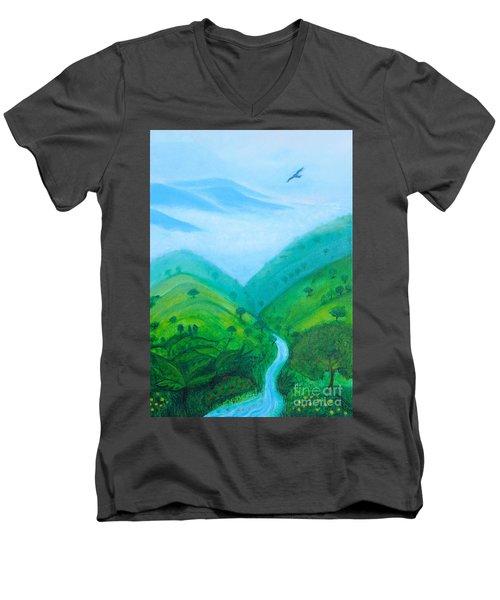 Medellin Natural Men's V-Neck T-Shirt