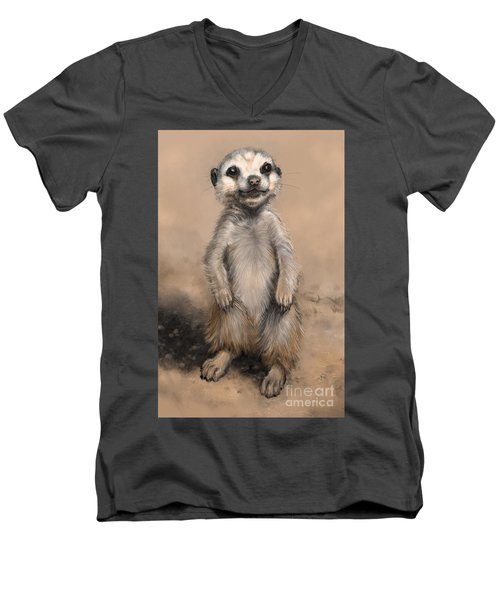 Meercat Men's V-Neck T-Shirt