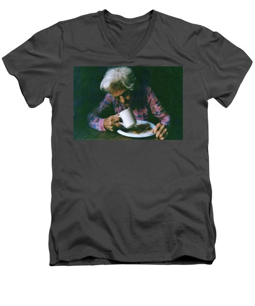 Memories Of Mama Men's V-Neck T-Shirt