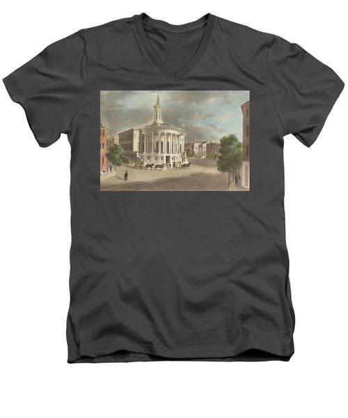 Merchants Exchange, 1838 Men's V-Neck T-Shirt
