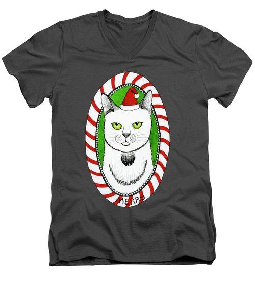 Merry Catmas Men's V-Neck T-Shirt