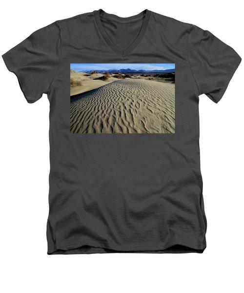 Mesquite Flat Sand Dunes Grapevine Mountains Men's V-Neck T-Shirt