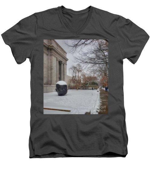 Mfa Boston Winter Landscape Men's V-Neck T-Shirt