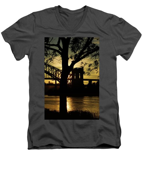 Mid Autumn Silhouette Men's V-Neck T-Shirt