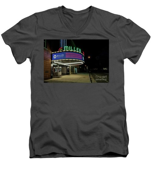 Miller Theater Augusta Ga 2 Men's V-Neck T-Shirt