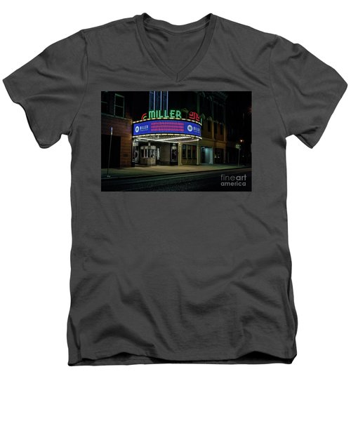 Miller Theater Augusta Ga Men's V-Neck T-Shirt