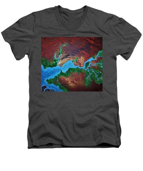 Mission River Men's V-Neck T-Shirt