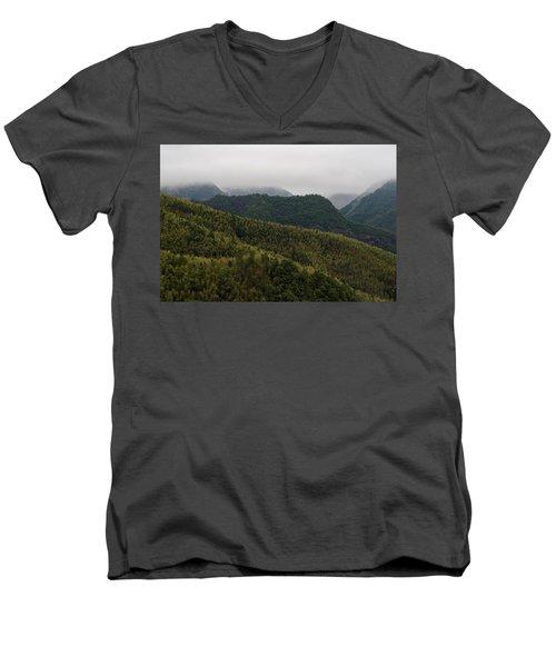 Misty Mountains I Men's V-Neck T-Shirt