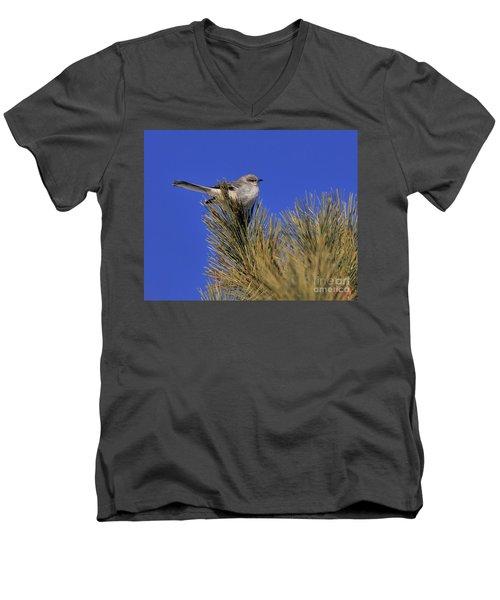 Mockingbird In White Pine Men's V-Neck T-Shirt