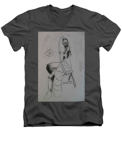 model named Chieh two Men's V-Neck T-Shirt