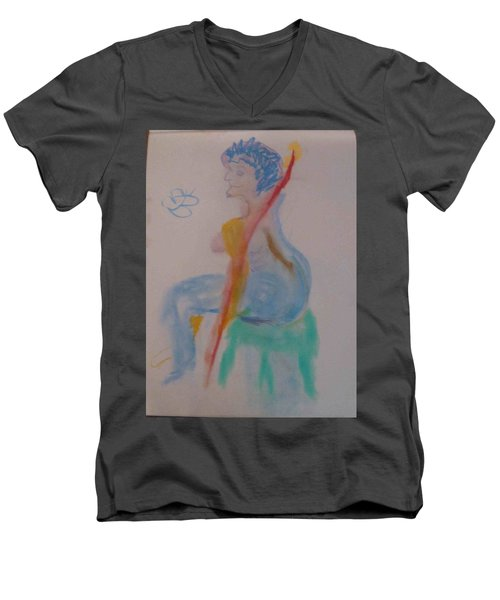 model named Helene two Men's V-Neck T-Shirt