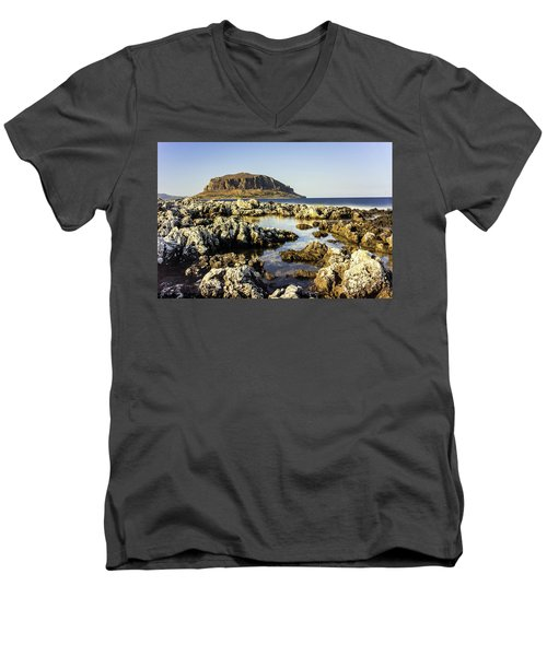 Monemvasia Rock Men's V-Neck T-Shirt