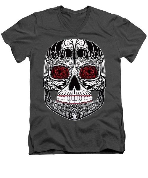 Monika's Sugar Skull Men's V-Neck T-Shirt