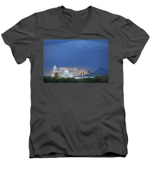 Monsoon Skies Over The Mission Men's V-Neck T-Shirt