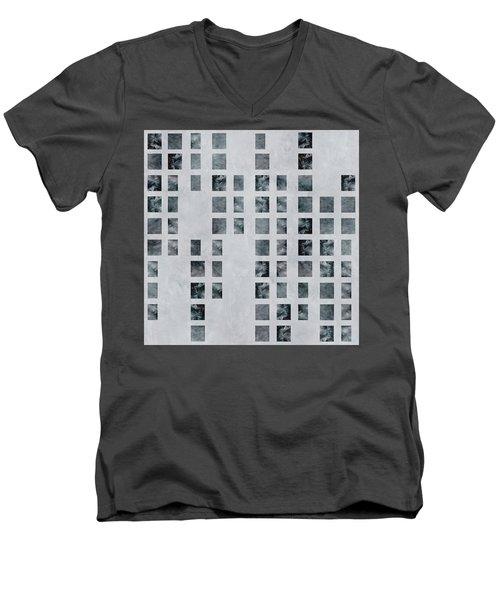 Moody Blues Data Pattern Men's V-Neck T-Shirt