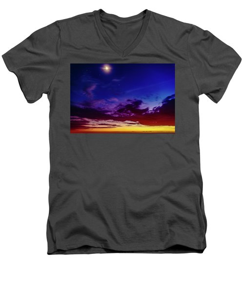 Moon Sky Men's V-Neck T-Shirt