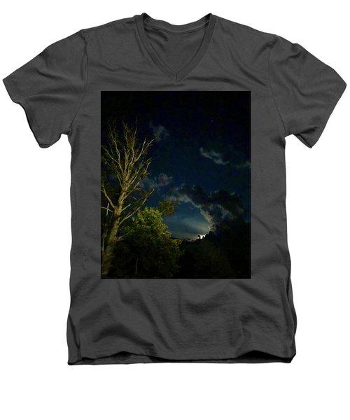 Moonlight In The Trees Men's V-Neck T-Shirt