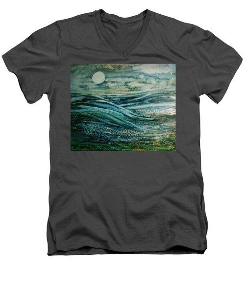 Moonlit Storm Men's V-Neck T-Shirt