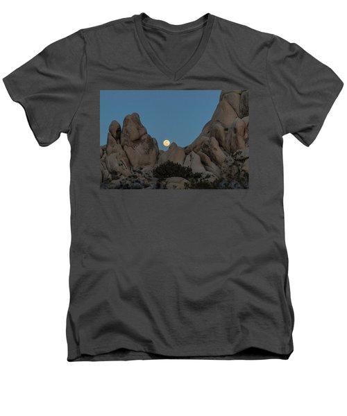 Moonrise In The Sight Men's V-Neck T-Shirt