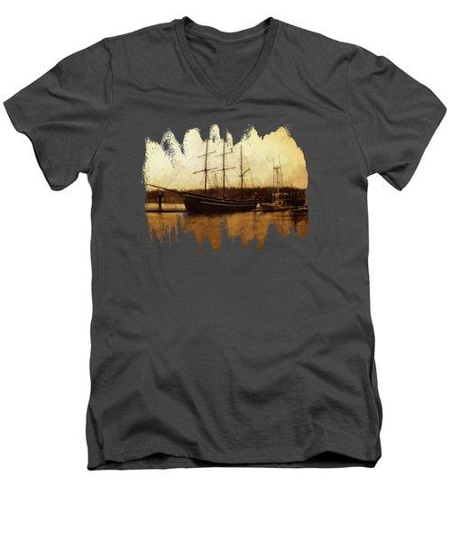 Moored Men's V-Neck T-Shirt