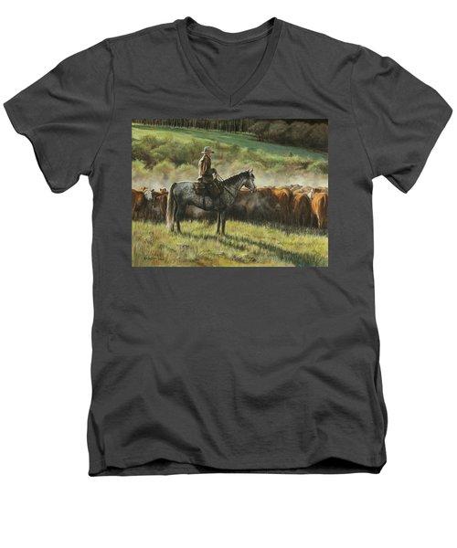 Morning In The Highwoods Men's V-Neck T-Shirt
