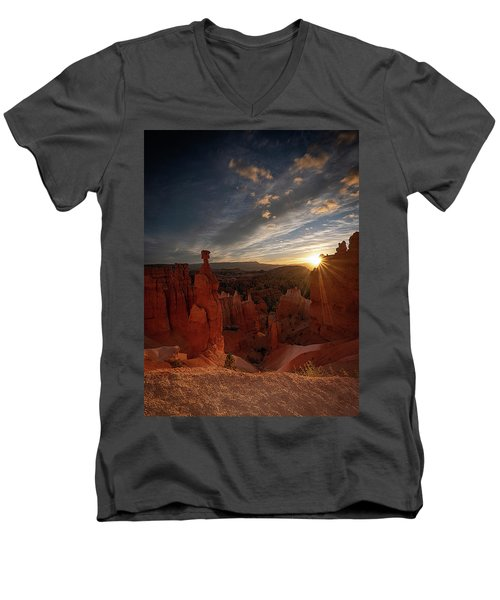 Men's V-Neck T-Shirt featuring the photograph Morning Kiss by Edgars Erglis