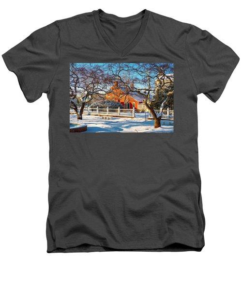 Morning Light, Winter Garden. Men's V-Neck T-Shirt