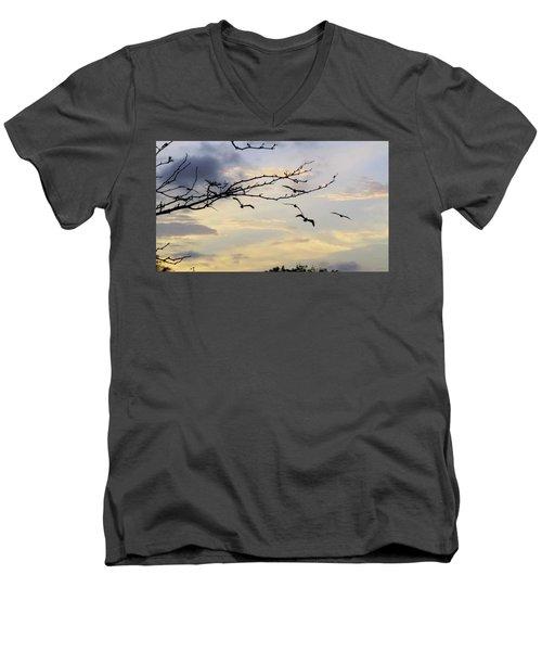 Morning Sky View Men's V-Neck T-Shirt