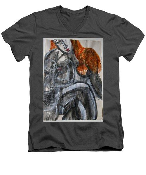 Mother Earth Feeds The World Men's V-Neck T-Shirt