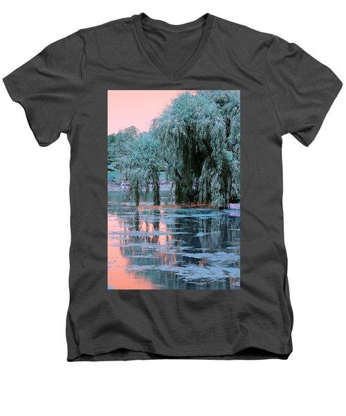 Mother Willow Infrared Men's V-Neck T-Shirt