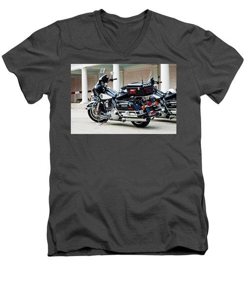 Motorcycle Cruiser Men's V-Neck T-Shirt