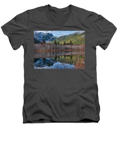 Mountain Lake Reflections Men's V-Neck T-Shirt
