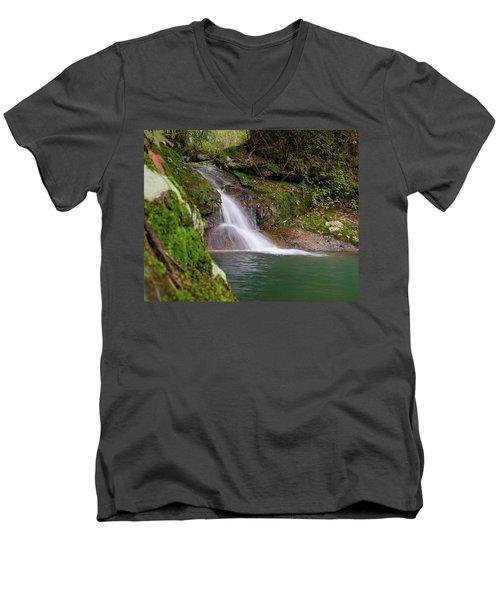 Mountain Waterfall II Men's V-Neck T-Shirt