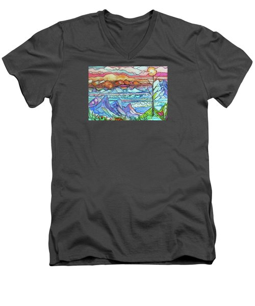 Mountains And Sea Men's V-Neck T-Shirt