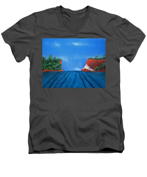 Mouth Of The Hay River Men's V-Neck T-Shirt
