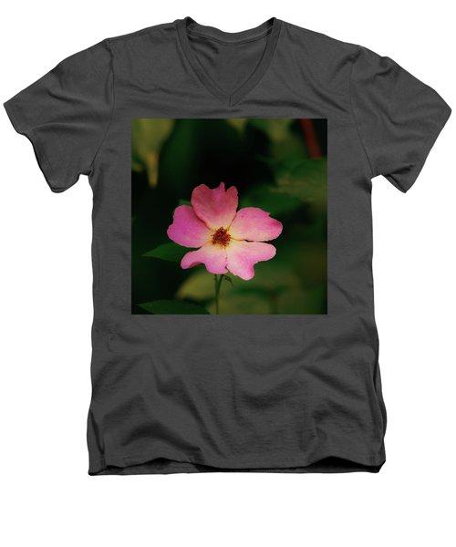 Multi Floral Rose Flower Men's V-Neck T-Shirt