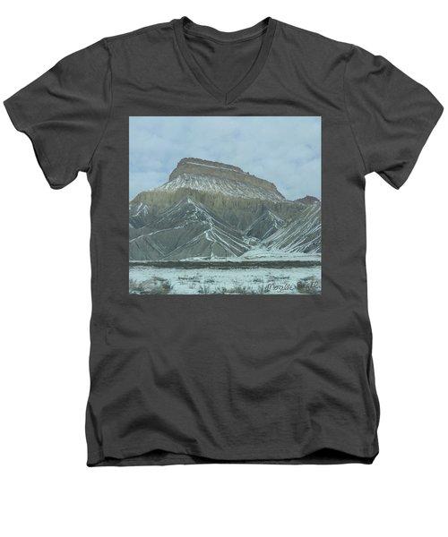 Multi-level Mountains Men's V-Neck T-Shirt
