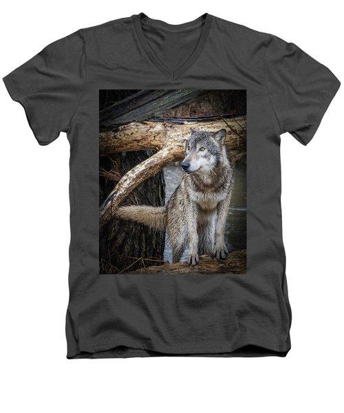 My Favorite Pose Men's V-Neck T-Shirt