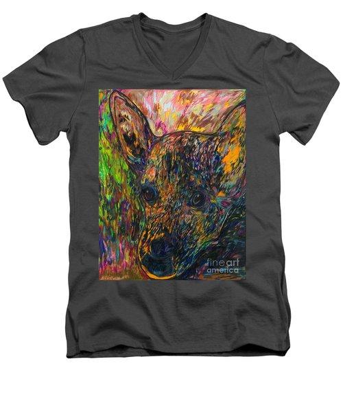 My Late Dog Rosco Men's V-Neck T-Shirt