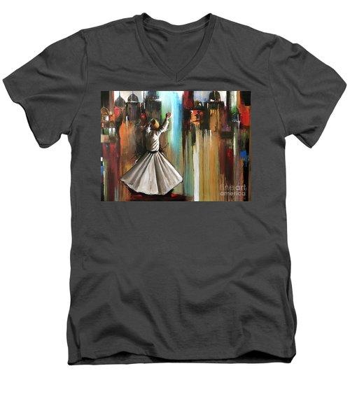Mystical Journey  Men's V-Neck T-Shirt