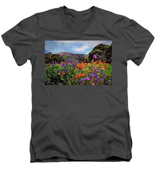 Nature's Bouquet  Men's V-Neck T-Shirt