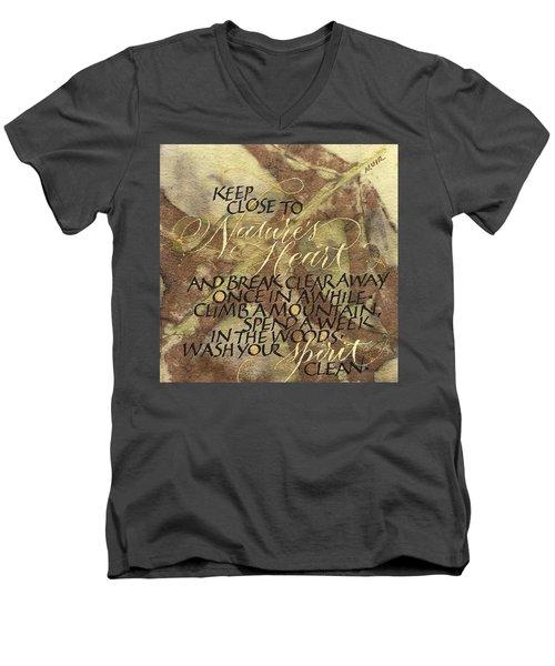 Nature's Heart Men's V-Neck T-Shirt