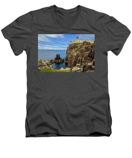 Neist Point Lighthouse Men's V-Neck T-Shirt