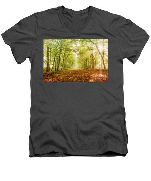 Neither Summer Nor Winter But Autumn Light Men's V-Neck T-Shirt