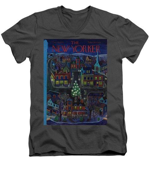 New Yorker December 15, 1951 Men's V-Neck T-Shirt