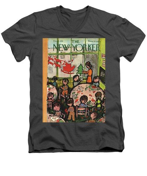 New Yorker December 8, 1951 Men's V-Neck T-Shirt
