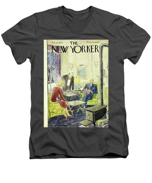 New Yorker February 13th 1943 Men's V-Neck T-Shirt