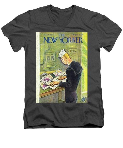 New Yorker February 14th 1942 Men's V-Neck T-Shirt